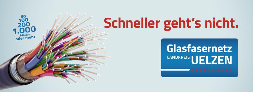 Glasfasernetz Landkreis Uelzen - Schneller geht's nicht.